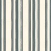Farrow & Ball Tented Stripe Off White / Black Wallpaper