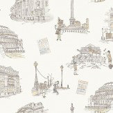 Albany London Theatres Off White / Sepia Wallpaper