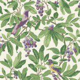 Cole & Son Royal Garden Green / Purple Wallpaper - Product code: 98/1001