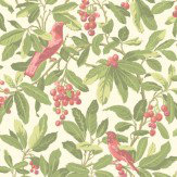 Cole & Son Royal Garden Green / Pink Wallpaper - Product code: 98/1002