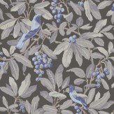 Cole & Son Royal Garden Blue / Grey / Charcoal Wallpaper - Product code: 98/1004