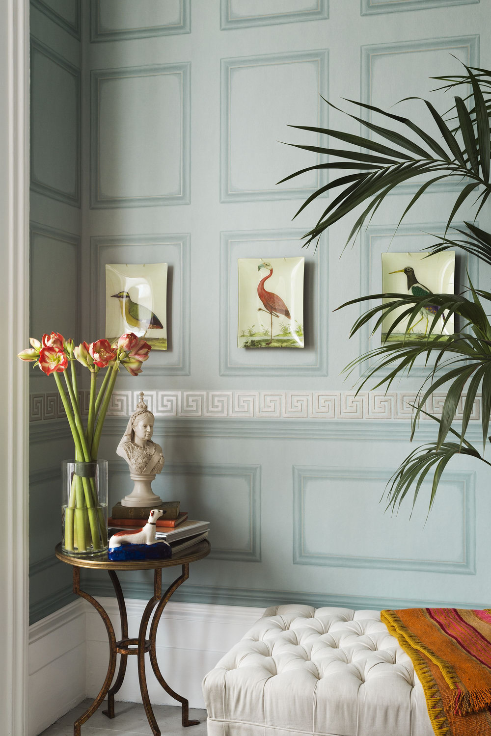 Cole & Son Library Frieze Powder Blue Wallpaper - Product code: 98/8035