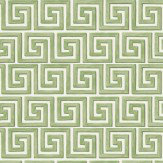 Cole & Son Queens Key Green / Cream Wallpaper - Product code: 98/5019
