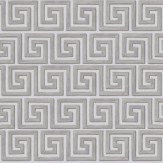 Cole & Son Queens Key Metallic Silver / Taupe Wallpaper