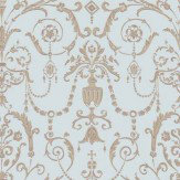 Cole & Son Regalia Pale Duck Egg / Bronze Wallpaper