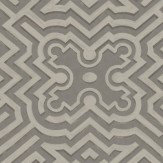 Cole & Son Palace Maze Charcoal / Metallic Silver Wallpaper - Product code: 98/14056