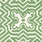 Cole & Son Palace Maze Light Cream / Green Wallpaper - Product code: 98/14059