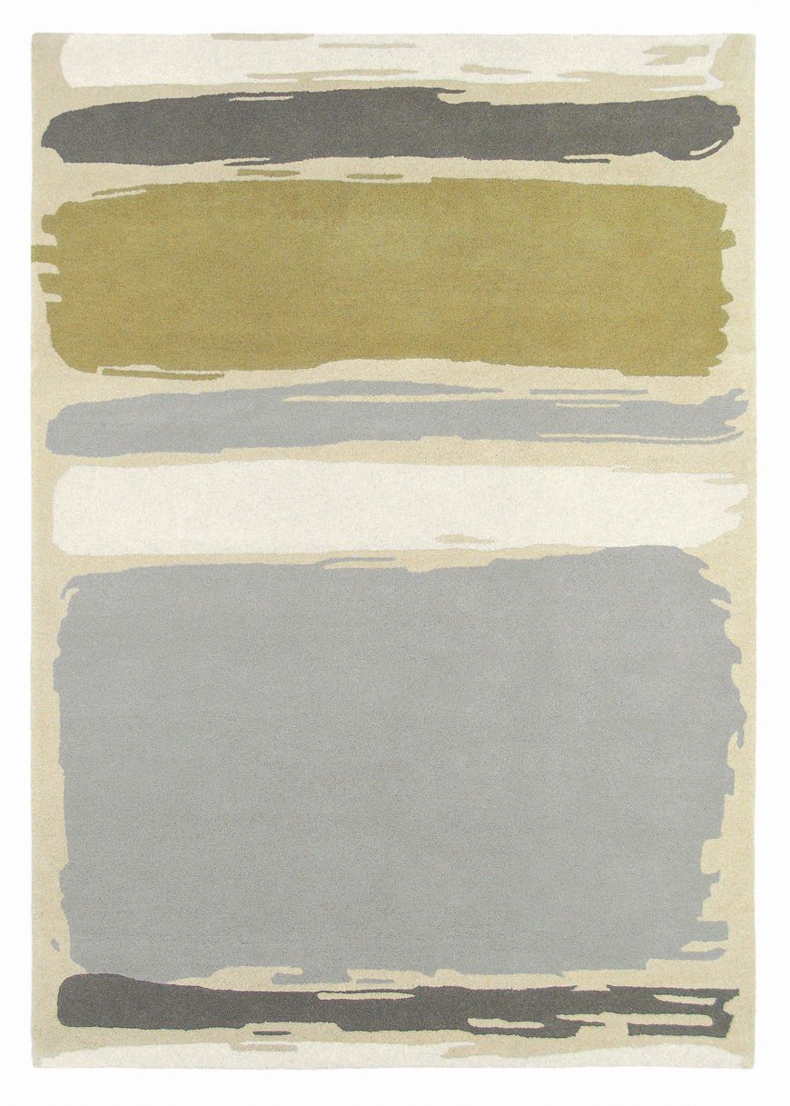 Abstract Linden Silver Rug - by Sanderson