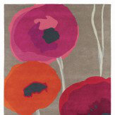 Sanderson Poppies Red Orange Rug Red / Orange