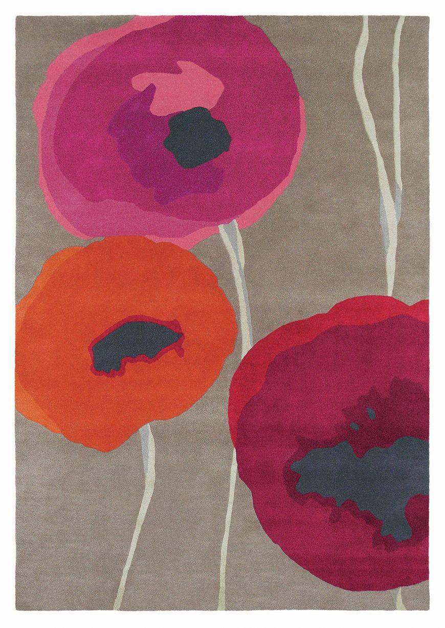 Poppies Rug - Red / Orange - by Sanderson