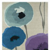 Sanderson Poppies Indigo Purple Rug Indigo / Purple