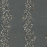 Sanderson Sparkle Coral Black / Silver Wallpaper