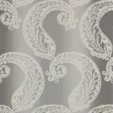Harlequin Adella Steel Silver Grey / White Wallpaper - Product code: 110603