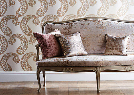 Harlequin Adella Blush Wallpaper