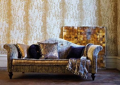 Harlequin Eglomise Gold Gold / Cream Wallpaper