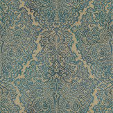 Harlequin Aurelia Peacock Peacock Blue Green Wallpaper - Product code: 110643