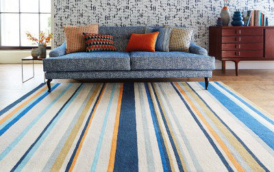 Harlequin Rugs Barcode Petrol Large Rug 43708