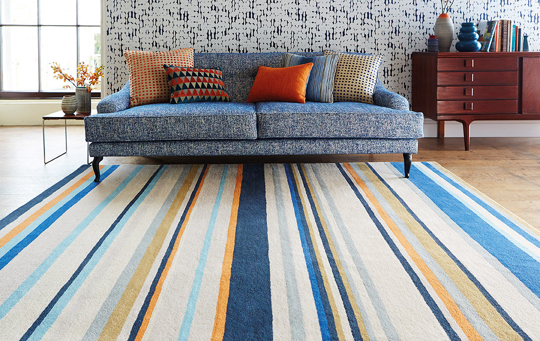 Barcode Petrol Large Rug By Harlequin Wallpaper Direct