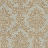 Arthouse Messina Damask Teal/ Gold Wallpaper