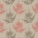 Harlequin Folium Coral / Brown Fabric - Product code: 120251