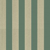 G P & J Baker Lydford Stripe Teal Wallpaper