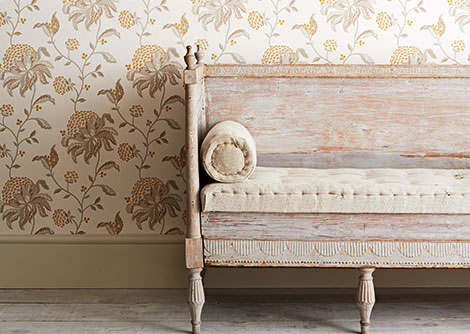 G P & J Baker Silwood Linen / Yellow Wallpaper