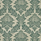 G P & J Baker Lydford Damask Teal Wallpaper