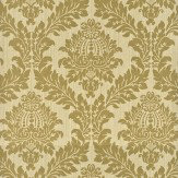 G P & J Baker Lydford Damask Gold Wallpaper