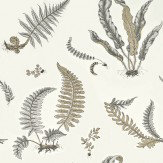 G P & J Baker Ferns Dove Grey / Silver Wallpaper