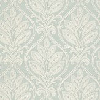 G P & J Baker Ryecote Damask Ivory / Aqua Wallpaper