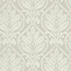 G P & J Baker Ryecote Damask Metallic Silver / Ivory Wallpaper