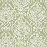 G P & J Baker Ryecote Damask Willow Green / Ivory Wallpaper