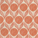 Romo Suvi Orange / Taupe Wallpaper