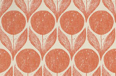 Romo Suvi Orange / Taupe Wallpaper main image