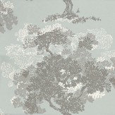 Romo Orvieto Grey / Duck Egg Wallpaper