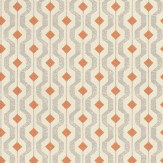 Threads Solstice Grey / Orange / Cream Wallpaper