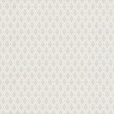 Baker Lifestyle Ryton Metallic Silver / Off White Wallpaper