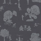 PaperBoy Brave New World Mulberry Wallpaper