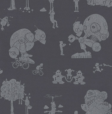 PaperBoy Brave New World Mulberry Wallpaper - Product code: BNW/WP/MULBERRY