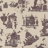 PaperBoy When I Grow Up Aubergine Wallpaper
