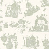 PaperBoy When I Grow Up Green / Cream Wallpaper