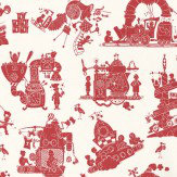 PaperBoy When I Grow Up Red / White Wallpaper