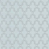 Baker Lifestyle Lullford Blue / White Wallpaper - Product code: PW78025/1