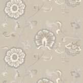 Baker Lifestyle Swanborough Stone / White Wallpaper - Product code: PW78028/4