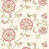 Baker Lifestyle Swanborough Red / Green / Cream Wallpaper