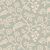 Baker Lifestyle Denbury Aqua / Cream Wallpaper