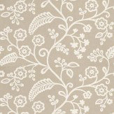 Baker Lifestyle Denbury Off White / Metallic Silver Wallpaper