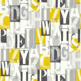 Arthouse Alpha Black/ Yellow Wallpaper
