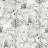 Arthouse Navigator Silver Wallpaper