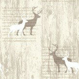 Arthouse Stag Cream Cream / Taupe Wallpaper